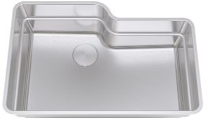 Franke Or2x110 30 Inch Orca 2 0 Off Set Bowl Undermount Stainless Steel Kitchen Sink With 18 Gauge Stainless Steel Integrated Ledge System Drain Cover 9 Inch Deep Bowl And Back Center Drain