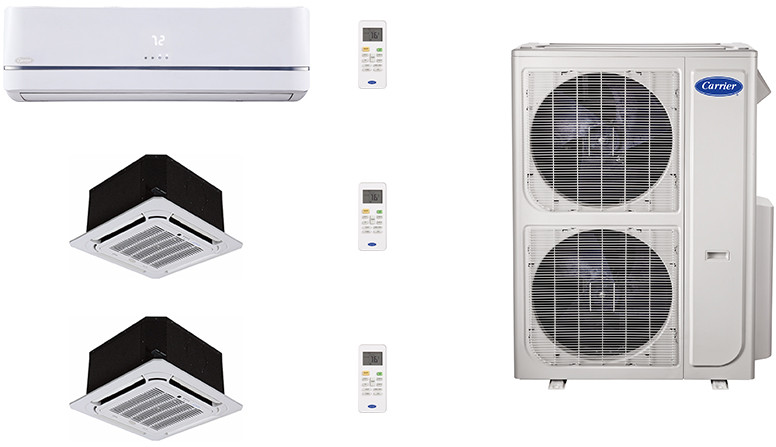 Carrier Ca36k103 3 Room Mini Split Air Conditioning System