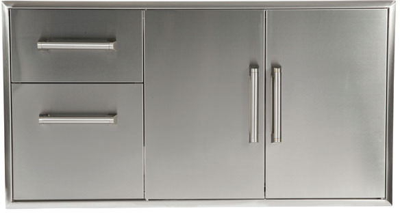 Coyote Ccd2dc 45 Inch Outdoor Stainless Steel Two Door Cabinet And