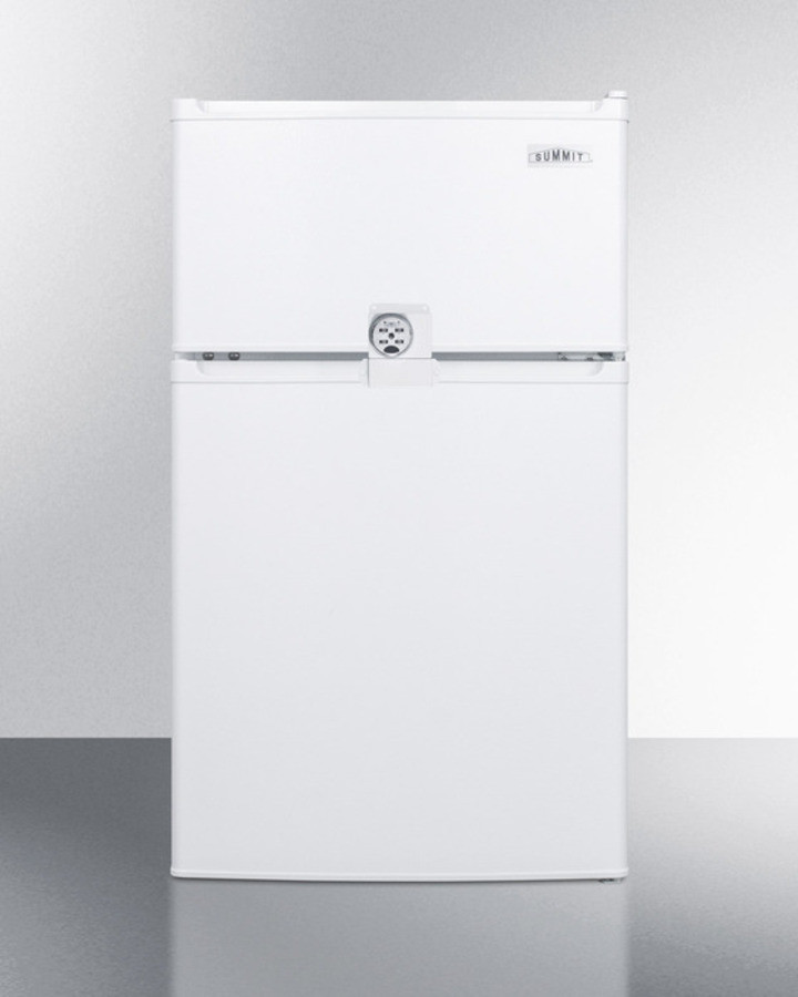 AccuCold 19 Inch 2.9 Cu. Ft. Compact Top Freezer Refrigerator White CP351WLLF2