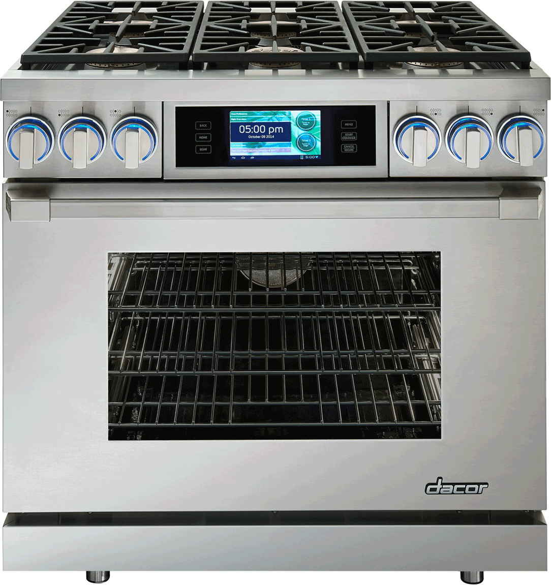 Dacor Dyrp36dslph 36 Inch Slide In Dual Fuel Range Oven With