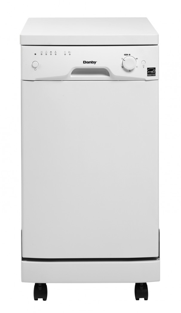 Danby Ddw1801mwp 18 Inch Full Console Portable Dishwasher With 6
