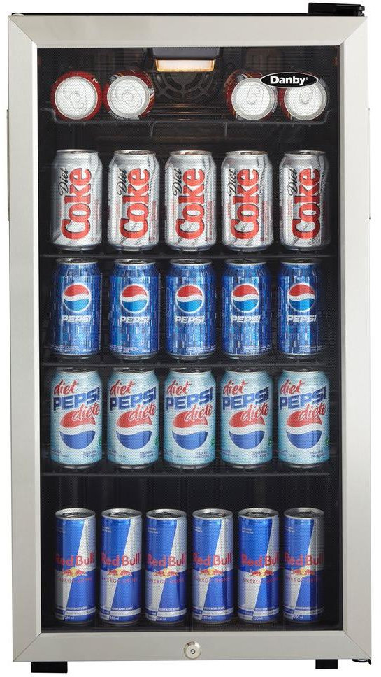 Danby Dbc120bls 18 Inch Beverage Center With 128 Can