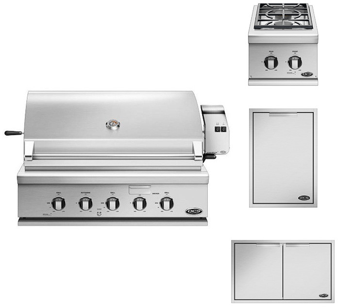 Dcs Dcsop6f1 36 Inch Built In Grill Package Natural Gas W