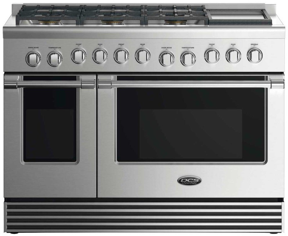 Dcs Rdv2486gdn 48 Inch Dual Fuel Range With 6 Sealed Gas Burners 4 8 Cu Ft Electric Convection Oven 2 1 Secondary Griddle