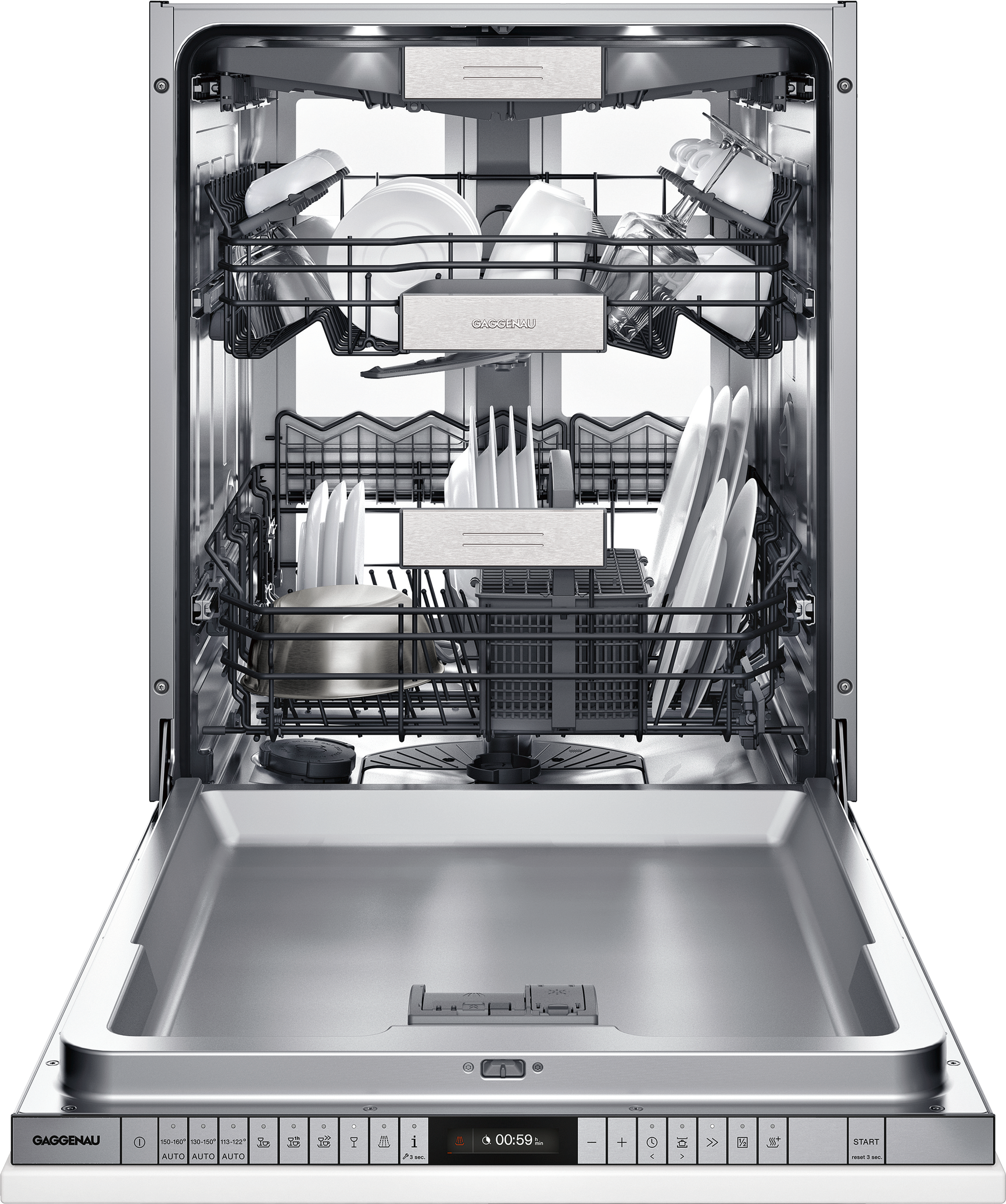 Gaggenau 400 Series 24 Inch Fully Integrated Push-to-Open Dishwasher