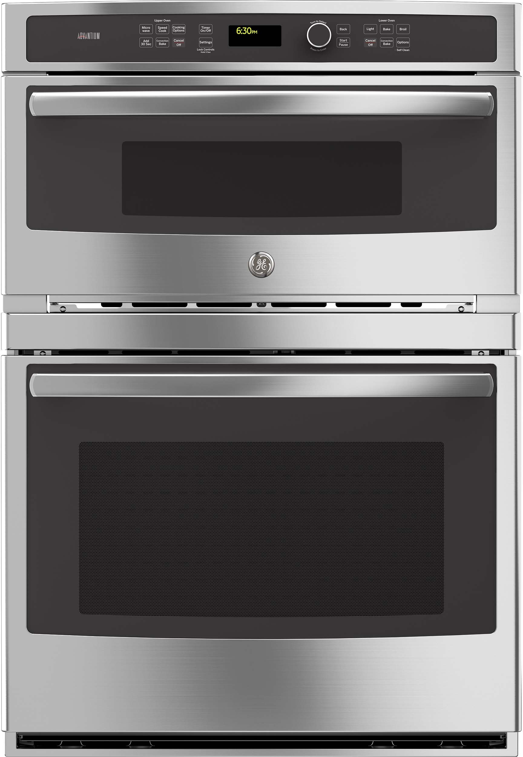 ge pt9800shss 30 inch built in combination wall oven with 5 0 cu ft