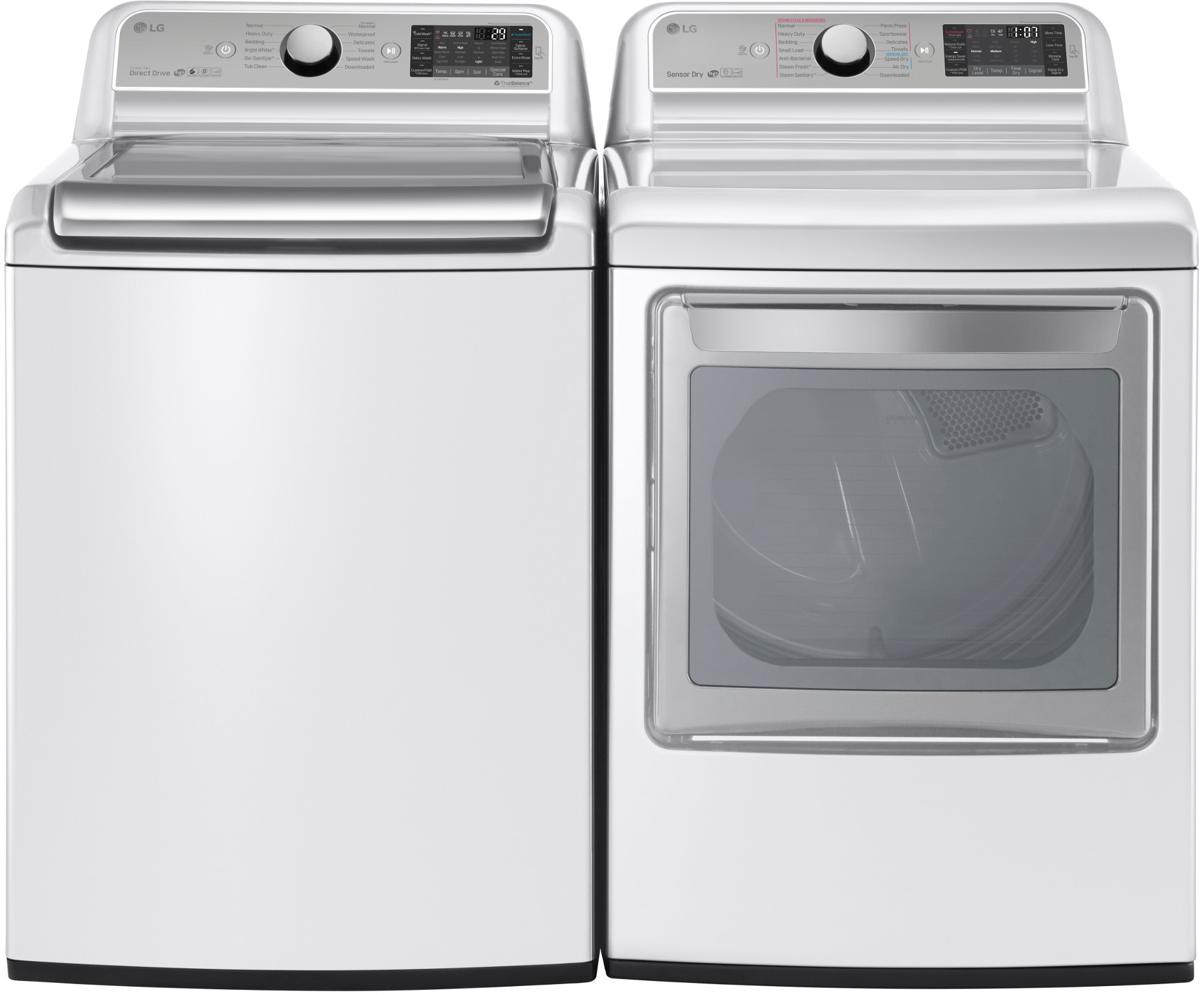Lg Lgwadrew14 Side By Side Washer Amp Dryer Set With Top