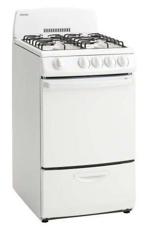 Danby Dr200wglp 20 Inch Freestanding Gas Range With 4 Open