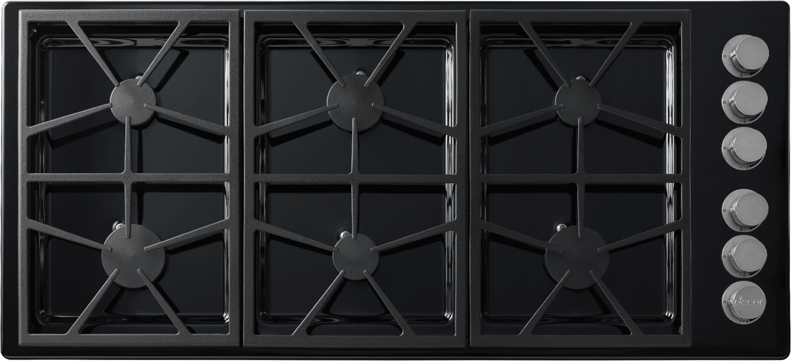 Dacor Dtct466gbng 46 Inch Gas Cooktop With 6 Sealed Burners 64 500 Btus Perma Flame Technology Smartflame Continuous Grates Spill Basin