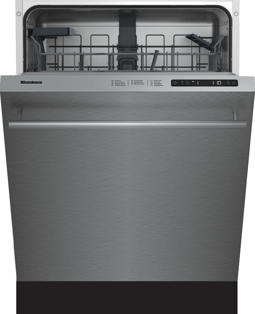 Blomberg Dwt51600ss 24 Inch Fully Integrated Built In Dishwashers With 14 Place Setting Capacity 6 Programs 48 Dba Led Spot Extra Rinse Function Rapidclean Function Sanitize Function Fingerprint Free Stainless Steel And Energy Star