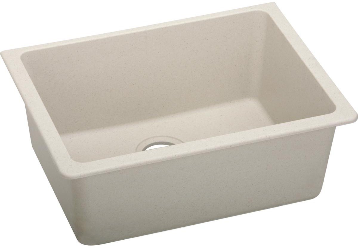 Elkay Elgu2522bq0 25 Inch Single Bowl Undermount Kitchen Sink With Scratch Resistant Stain And Sound Guard Material Bisque