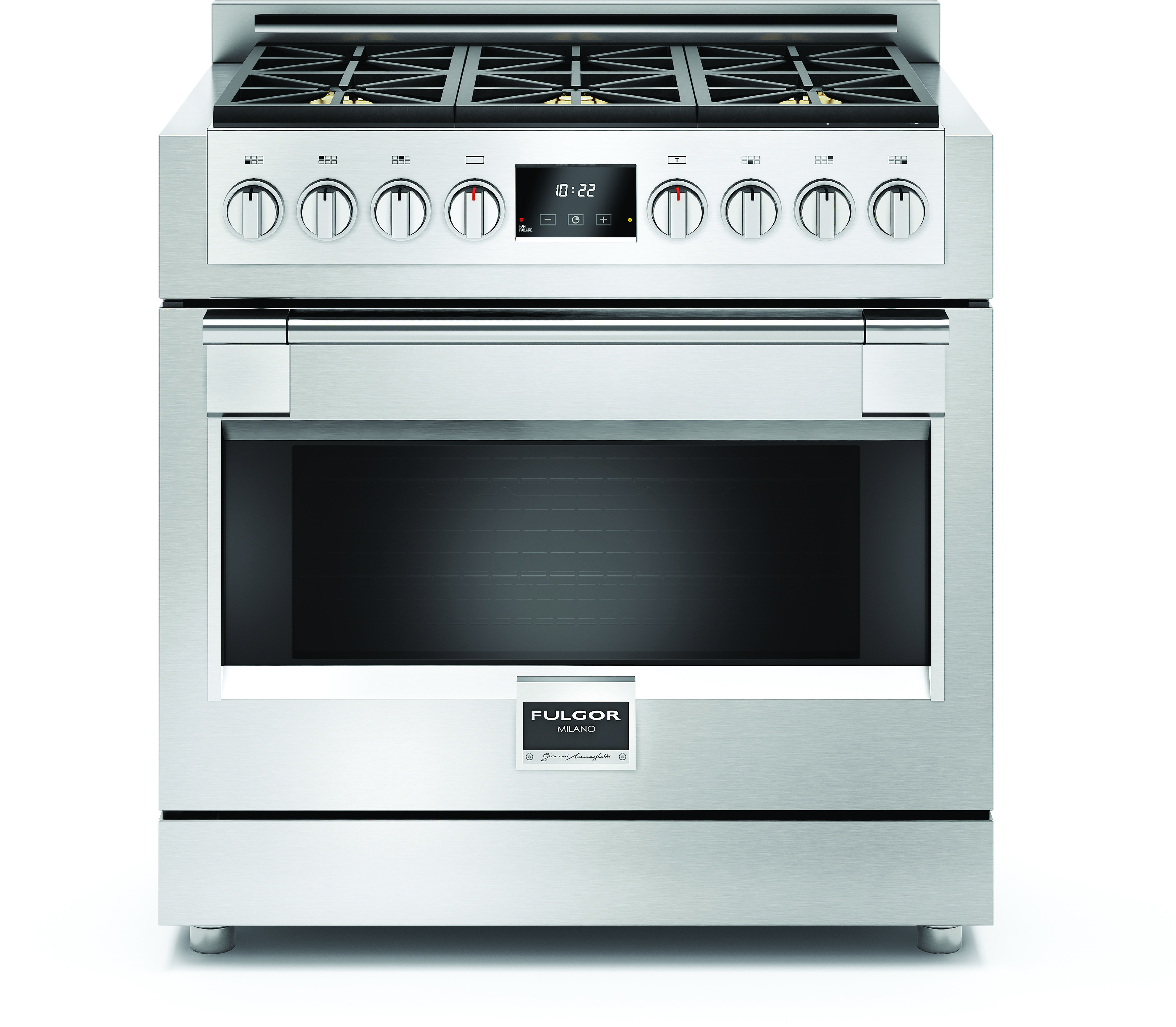 Fulgor Milano F6PGR366S1 36 Inch Freestanding Gas Range with 6 18,000-BTU  Burners, 5.2 cu. ft. Dual Convection Oven, Full Extension Telescopic Rack,  ...