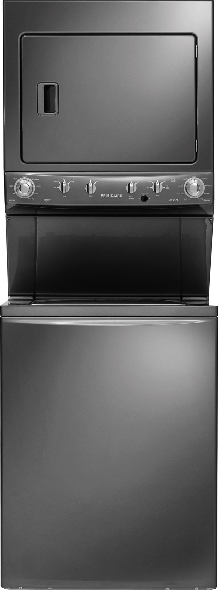 Frigidaire Ffle4033qt 27 Inch Electric Laundry Center With 38 Cu Washer And Dryer Knobs Front Load Ft 55 Energy Star 9 Wash Cycles Dry Quick Cycle