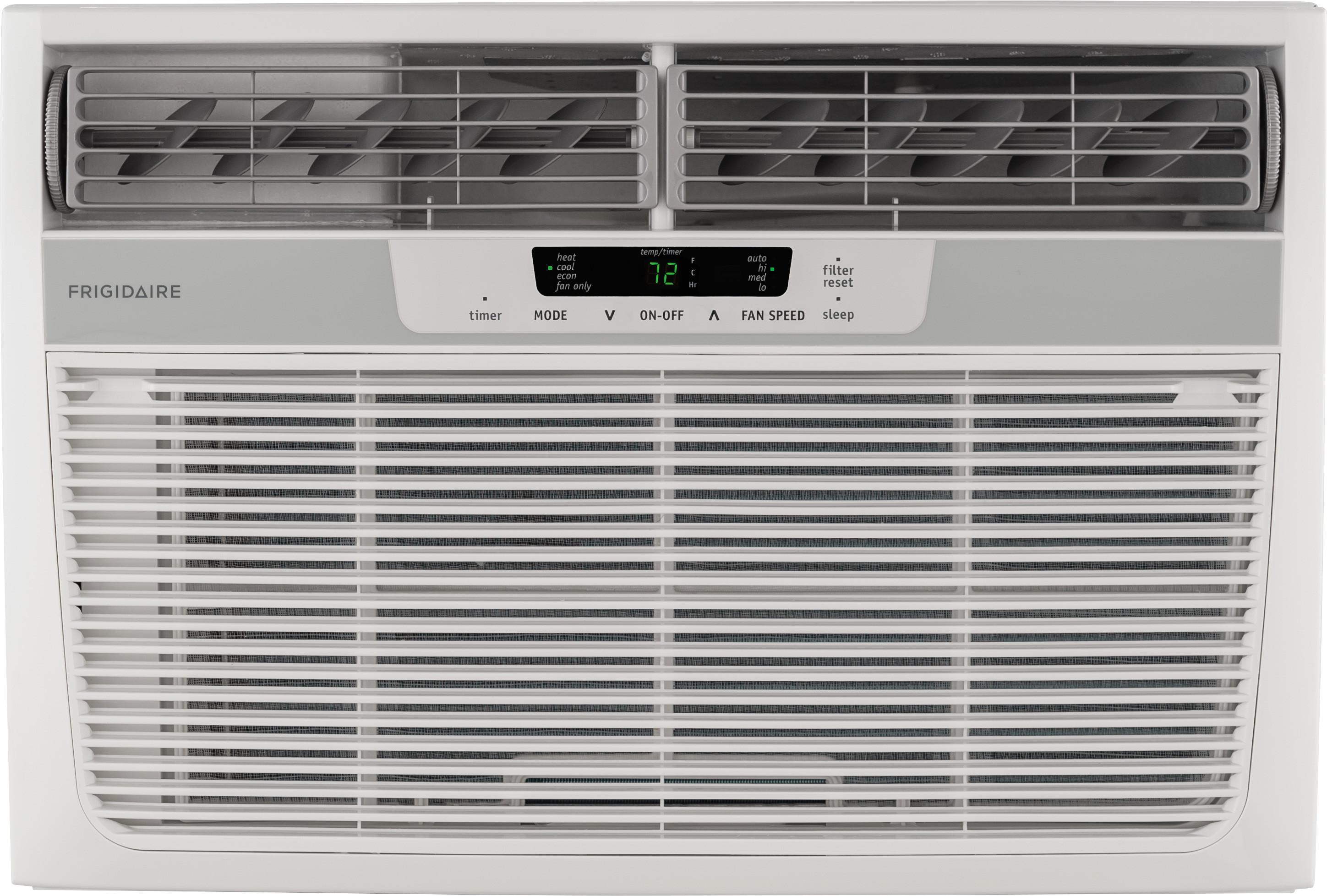Frigidaire FFRH1222R2 12,000 BTU Room Air Conditioner with 11,000 BTU  Electric Heat, 10.9 EER, R-410A Refrigerant, 2.0 Pts/Hr Dehumidification,  ...