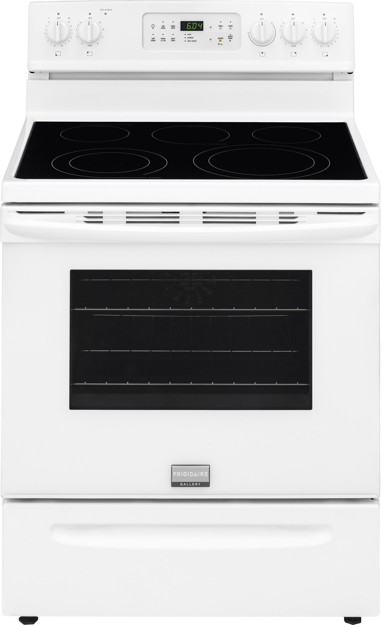 Frigidaire Fgef3035rw 30 Inch Freestanding Electric Range With True Convection Storage Drawer One Touch Self Clean Boil Burner 5 7 Cu Ft