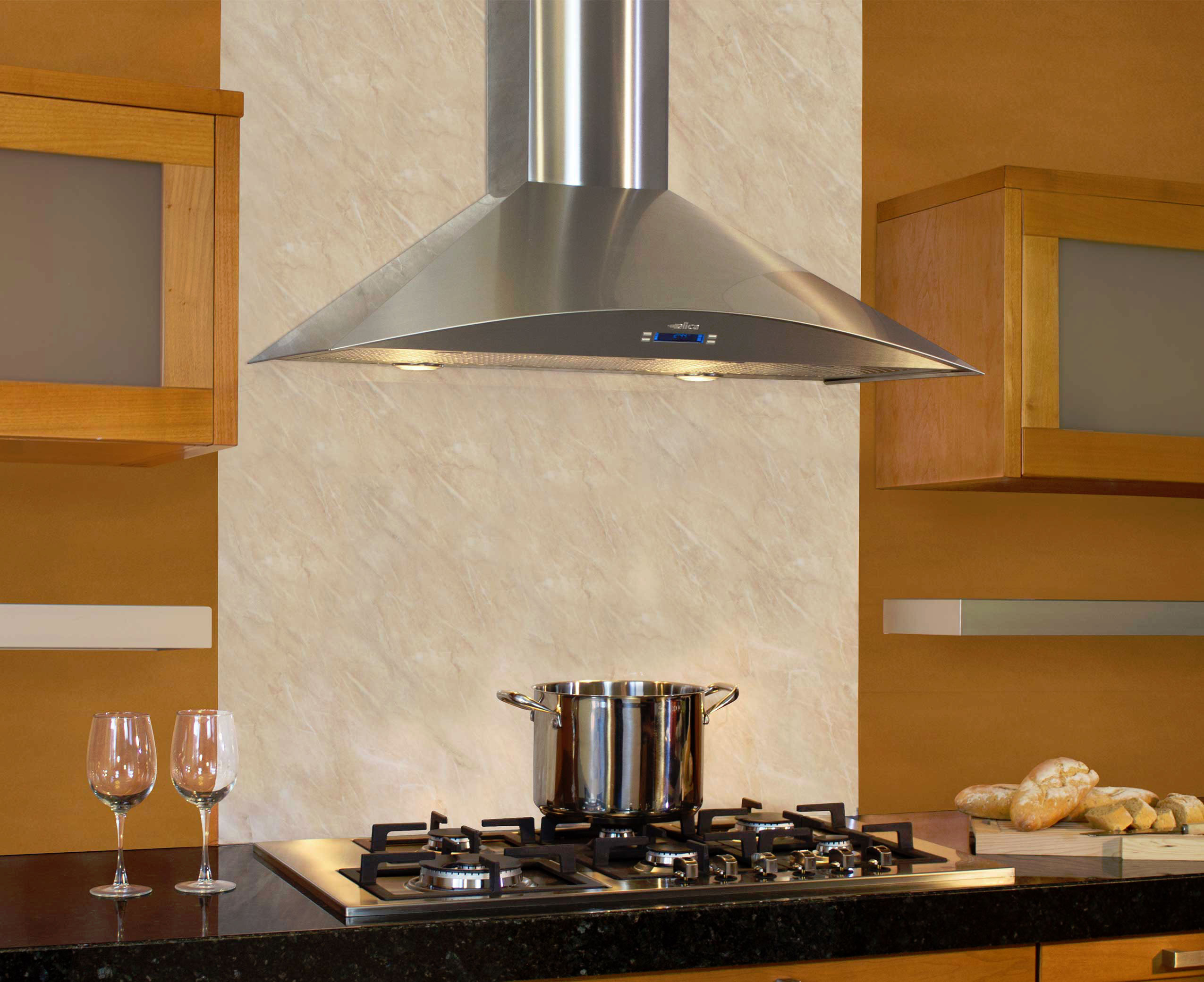 Elica Efg630sm Wall Mount Chimney Hood With 600 Cfm Internal