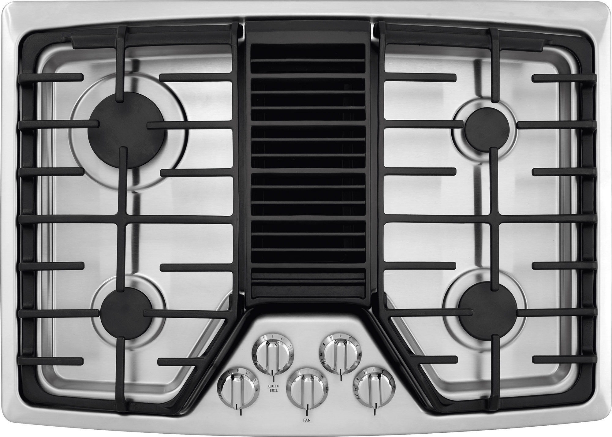 Frigidaire Rc30dg60ps 30 Inch Gas Cooktop With 4 Sealed Burners Downdraft Ventilation 3 Ducting Options Recessed Continuous Grates
