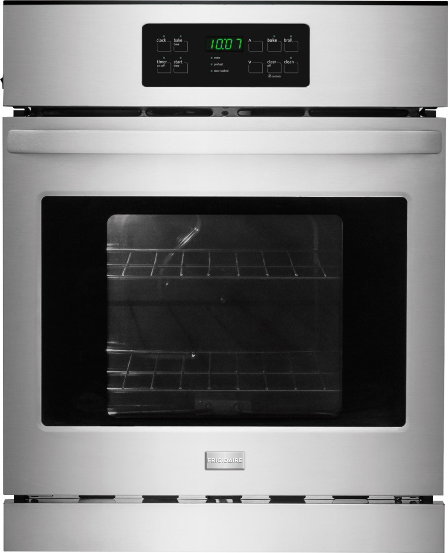 frigidaire ffew2425qs 24 inch single electric wall oven with, 3 3 cu
