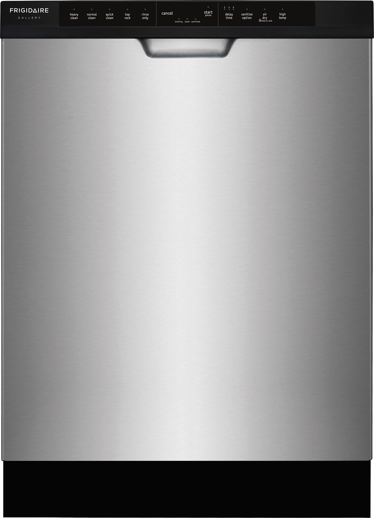Frigidaire Fgcd2444sf 24 Inch Full Console Built In Dishwasher With 14 Place Settings 5 Wash Cycles 54 Dba Silence Rating Effortless Dry Bladespray Arm Dishsense Store More Capacity Quick Clean Delay Start Nsf Certified Rinse