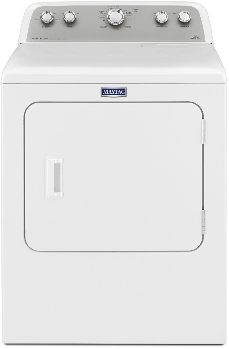 Maytag MEDX655DW 29 Inch 7.0 cu. ft. Electric Dryer with 13 Drying Cycles,  5 Temperature Settings, Sanitize Cycle and IntelliDry Sensor