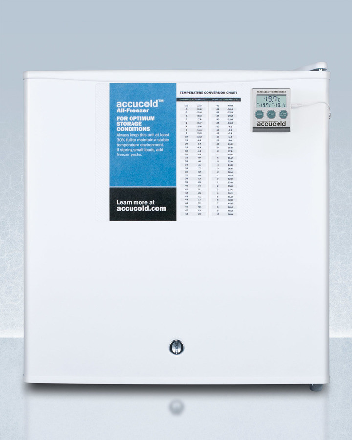 Accucold 1.4 Cu. Ft. Compact Upright Freezer White Fs24l7plus2