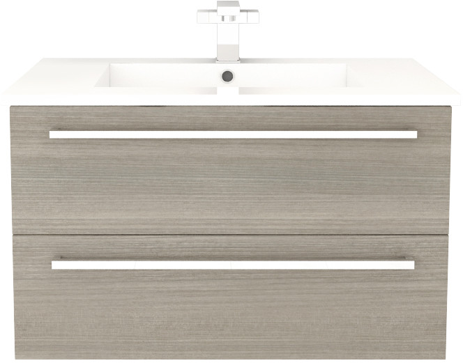 Cutler Kitchen Bath Fvaria30 30 Inch Wall Mount Vanity With 2 Soft Close Drawers Countertop And Sink And Handles Included Aria