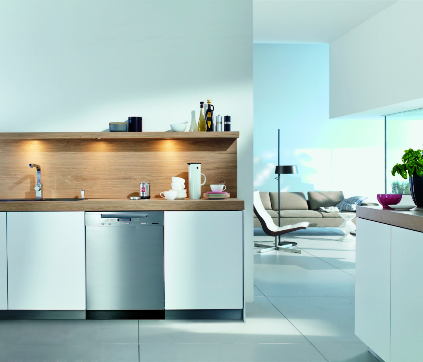 Miele G6305SCUS Full Console Dishwasher with 9 Wash Cycles, 3 Wash ...