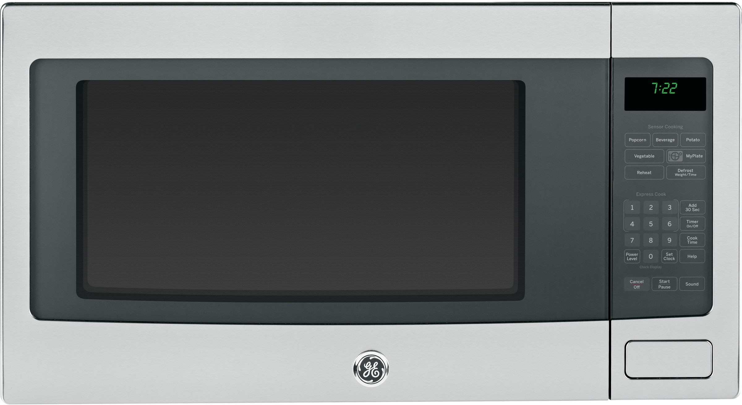 Profile 2.2 Cu. Countertop Microwave W/Child Lockout & Extra Large ...
