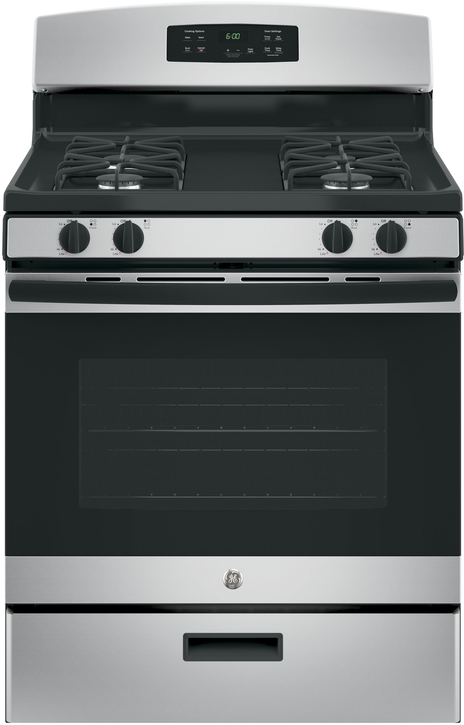 Ge Jgbs60geksa 30 Inch Freestanding Gas Range With Precise Simmer Burner Broiler Drawer 4 8 Cu Ft Capacity Sealed Burners And Star K