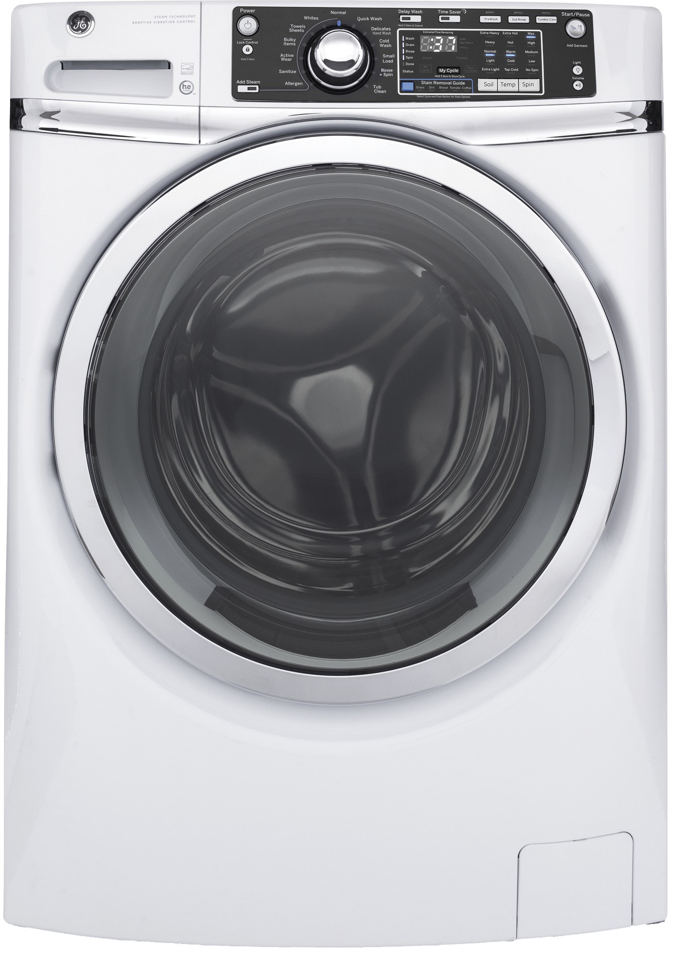 Ge Gfw480sskww 28 Inch Front Load Washer With 4 9 Cu Ft
