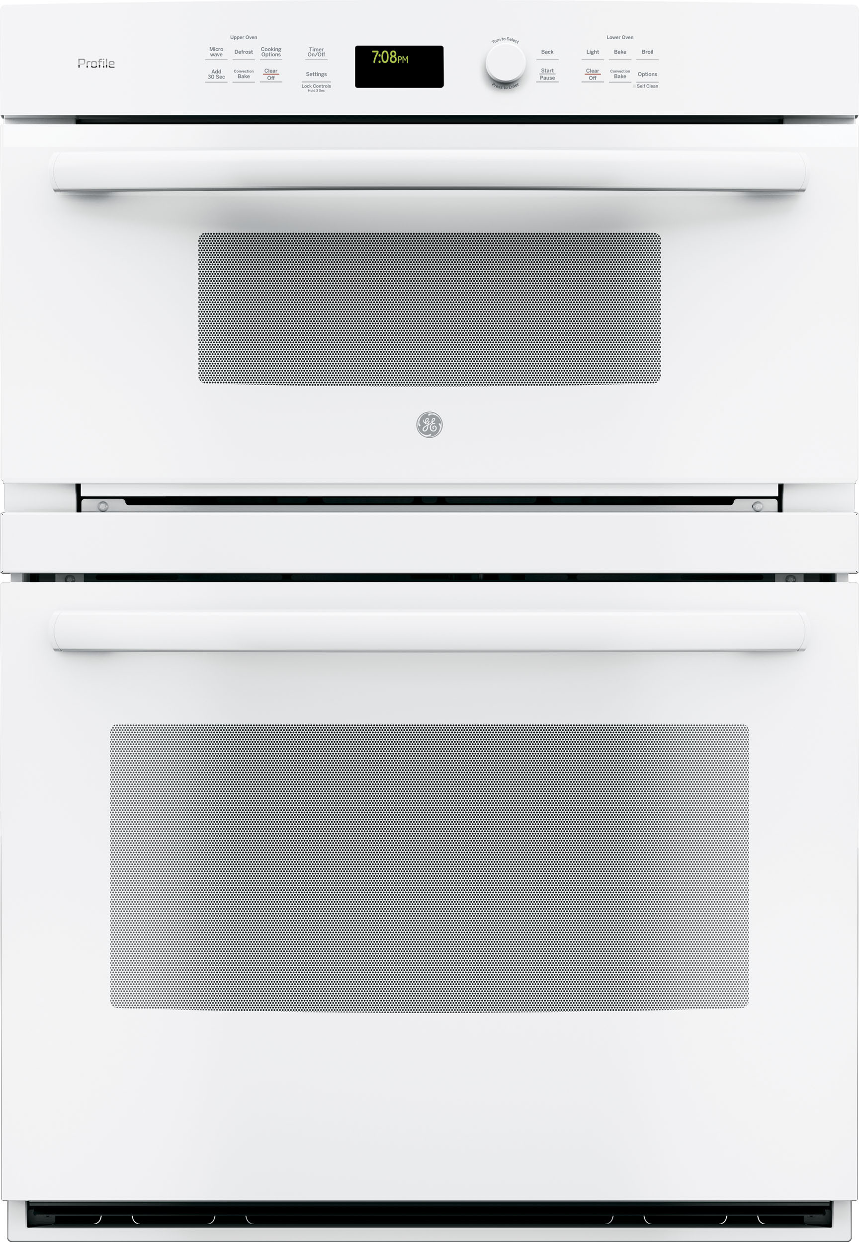 Ge Pt7800dhww 30 Inch Combination Wall Oven With True European Convection Meat Probe Proof Mode Warm 5 0 Cu Ft Capacity 1 7