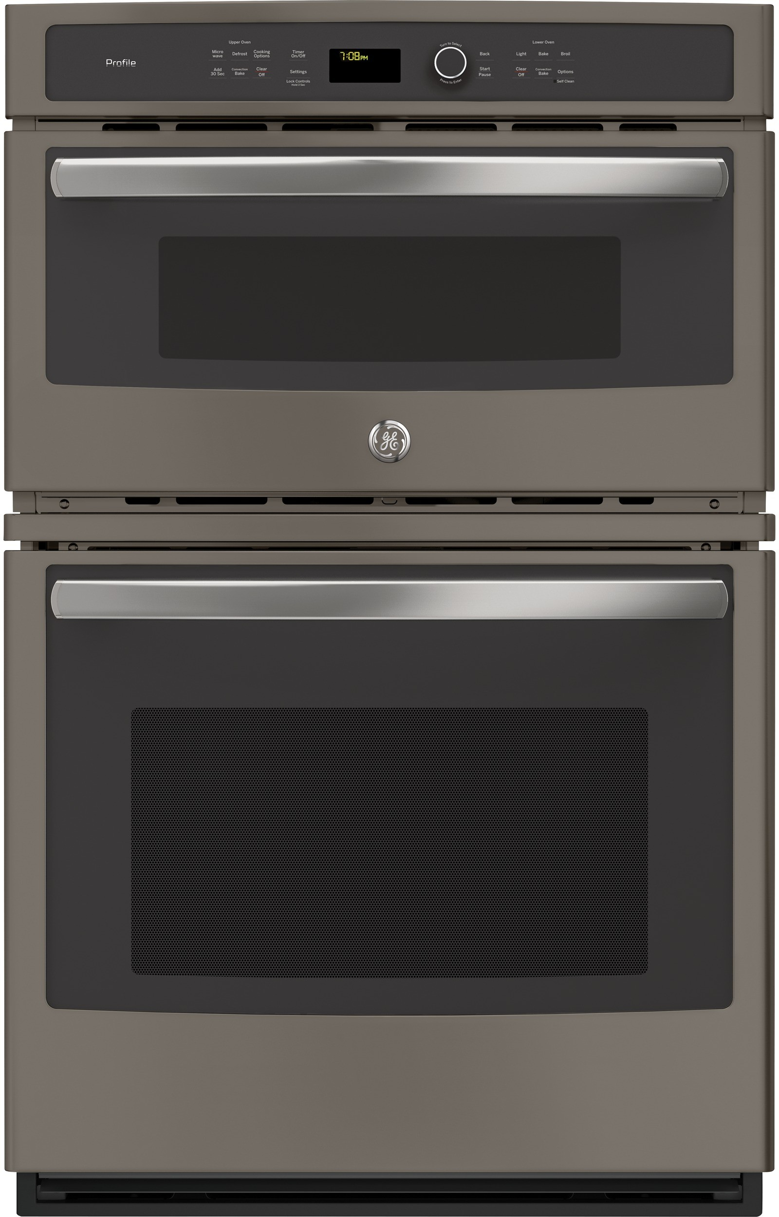 Ge Pk7800ekes 27 Inch Combination Electric Wall Oven With 6 Total Cu Ft Capacity True European Convection Microwave Proof Defrost