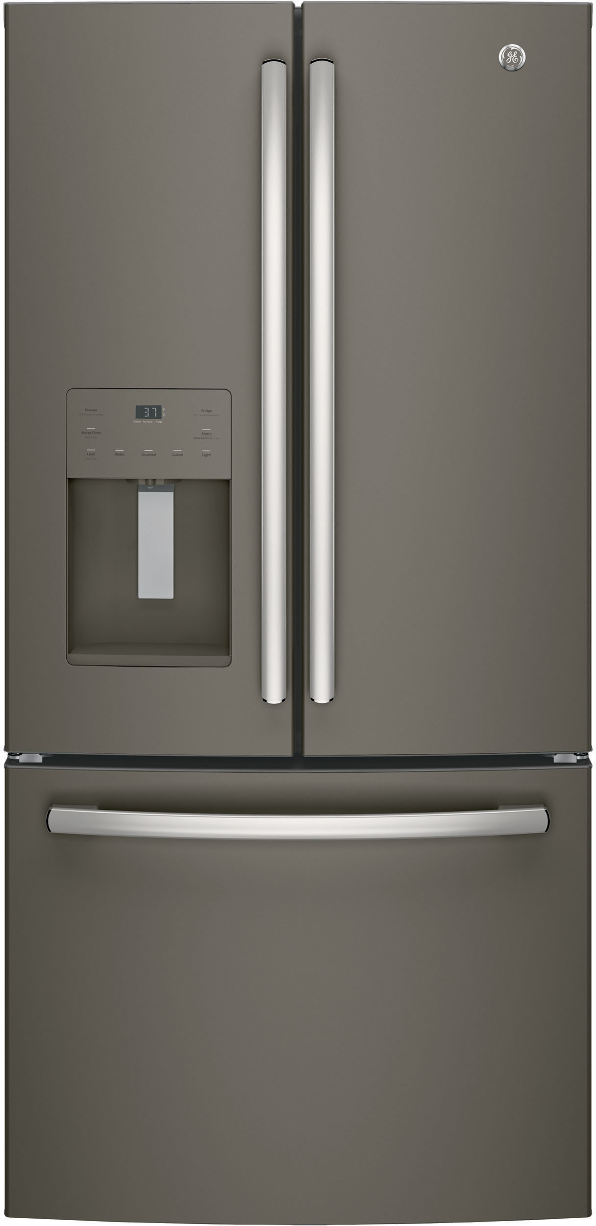 Ge Gfe24jmkes 33 Inch French Door Refrigerator With Turbo