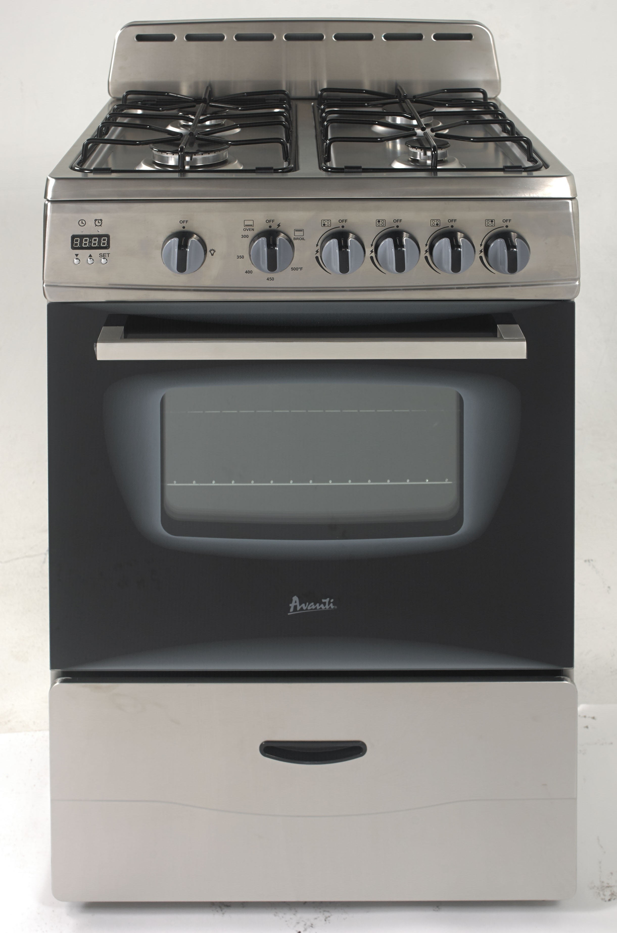 6f158b33ce1 Avanti. GR2416CSS. 24 Inch Freestanding Gas Range with 4 Sealed Burners ...