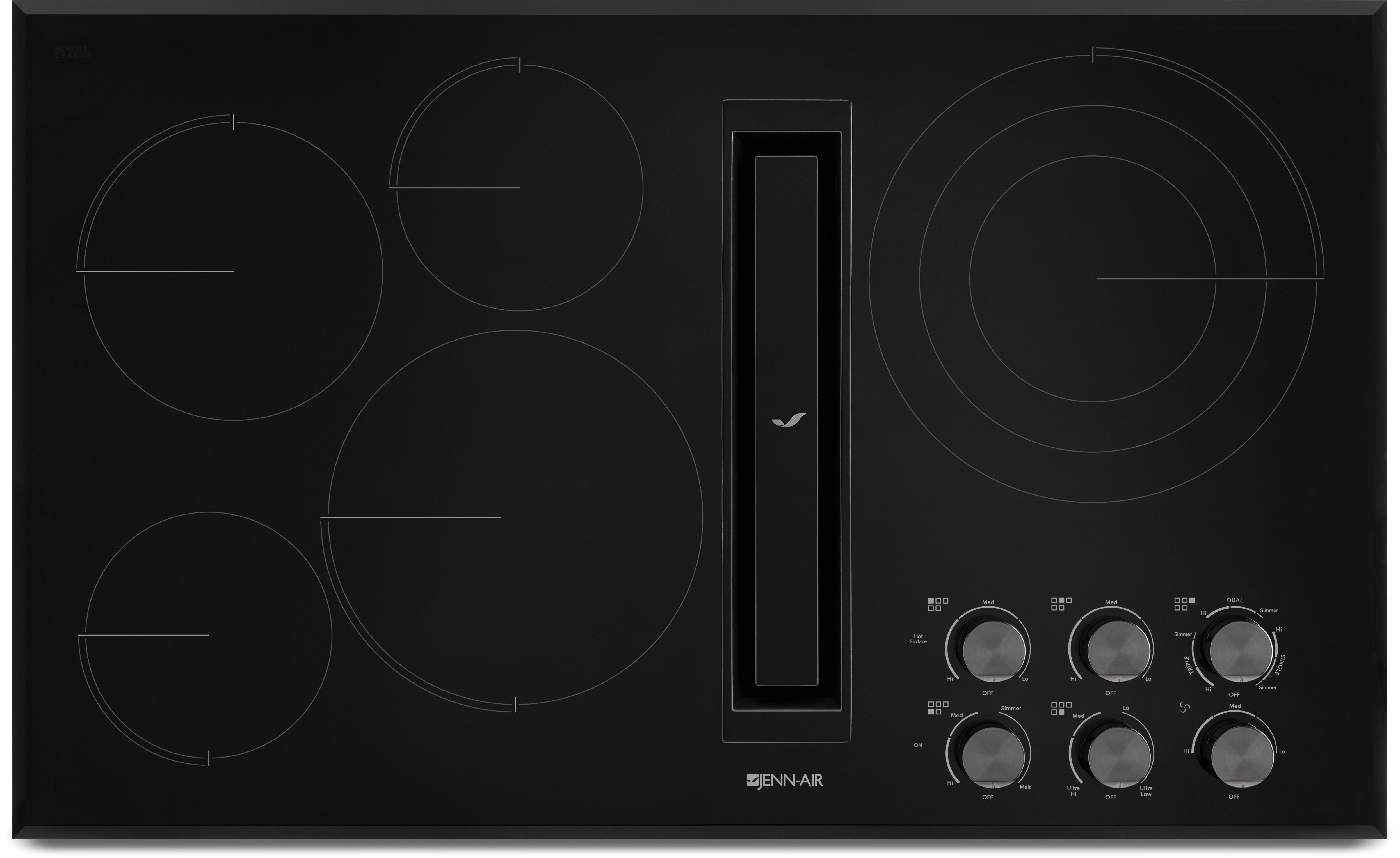 Jed3536gb 36 Inch Electric Cooktop