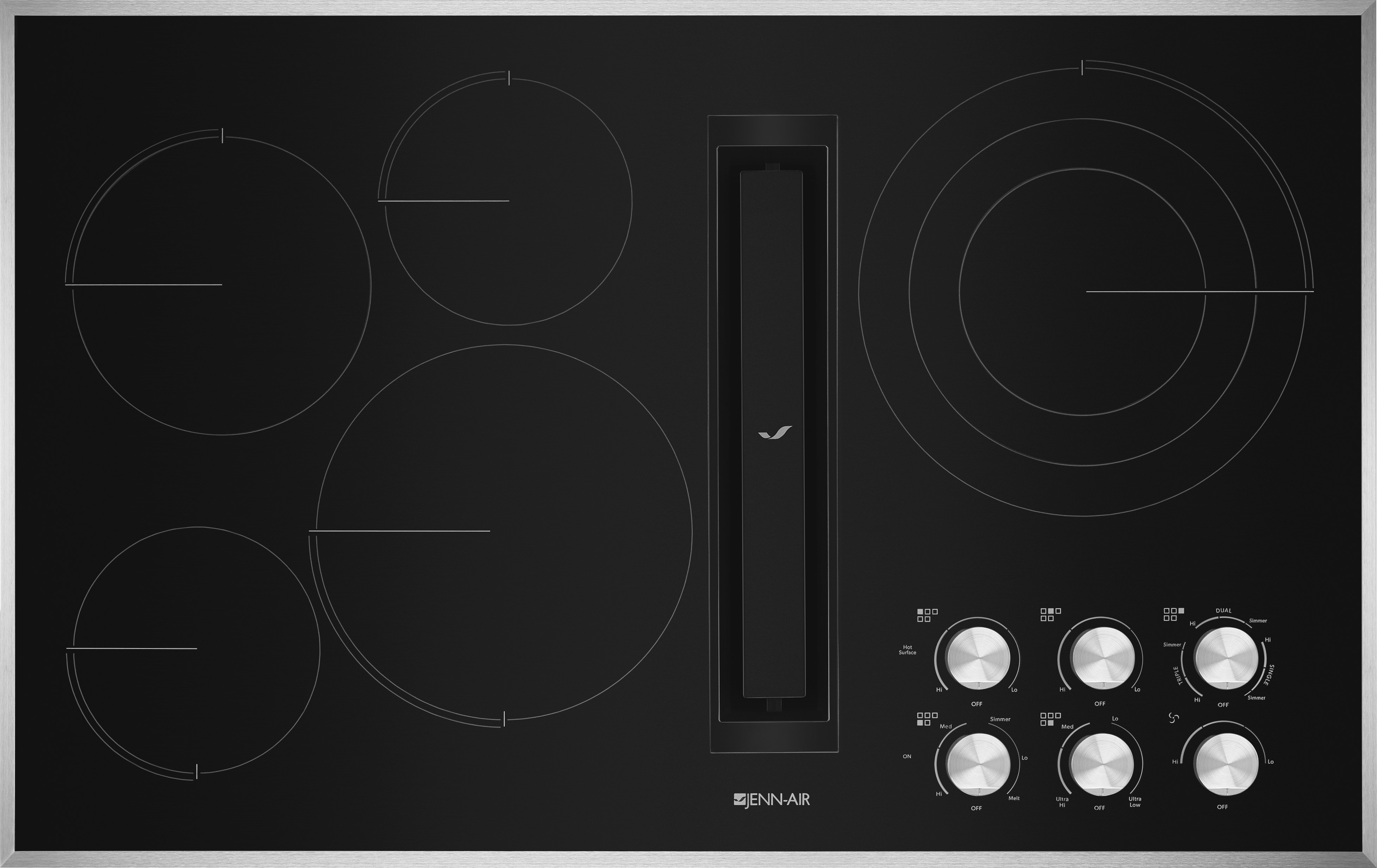 Jed3536gs 36 Inch Electric Cooktop