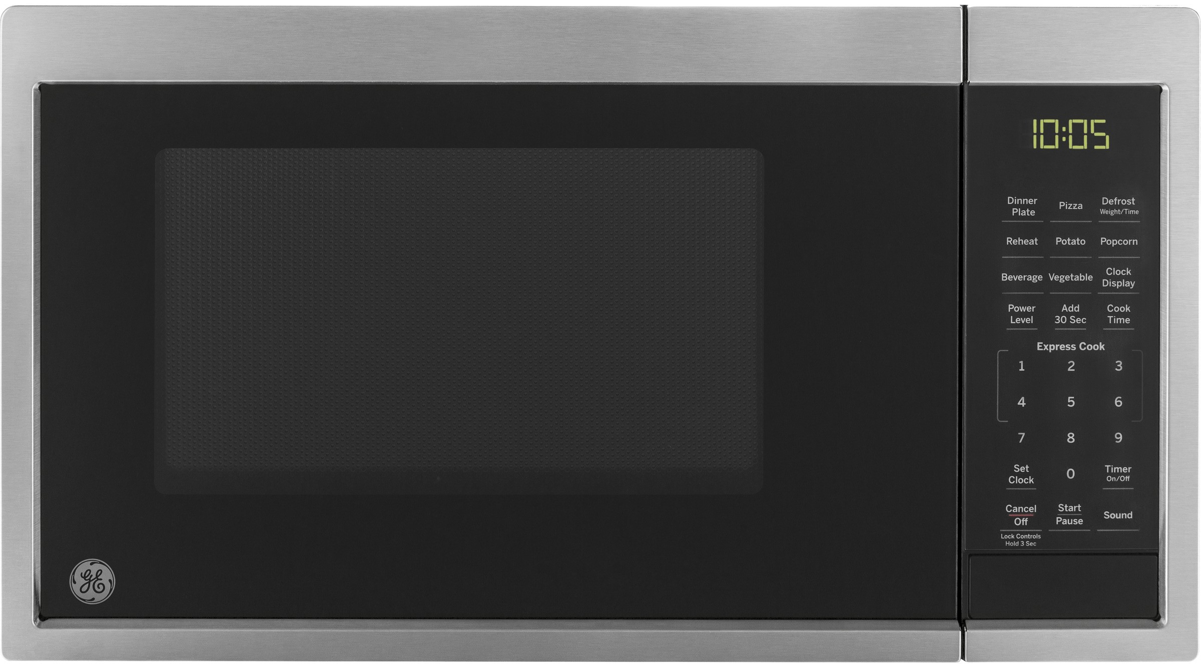 0 9 Cu Ft Countertop Microwave Oven With Convenience Cooking Controls Auto And Time Defrost Control Lockout Turntable Included Kitchen Timer