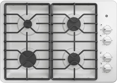 GE JGP3030DLBB 30 Inch Gas Cooktop with MAX System Power Broil Sealed Burners and ADA Compliant Simmer Continuous Grates