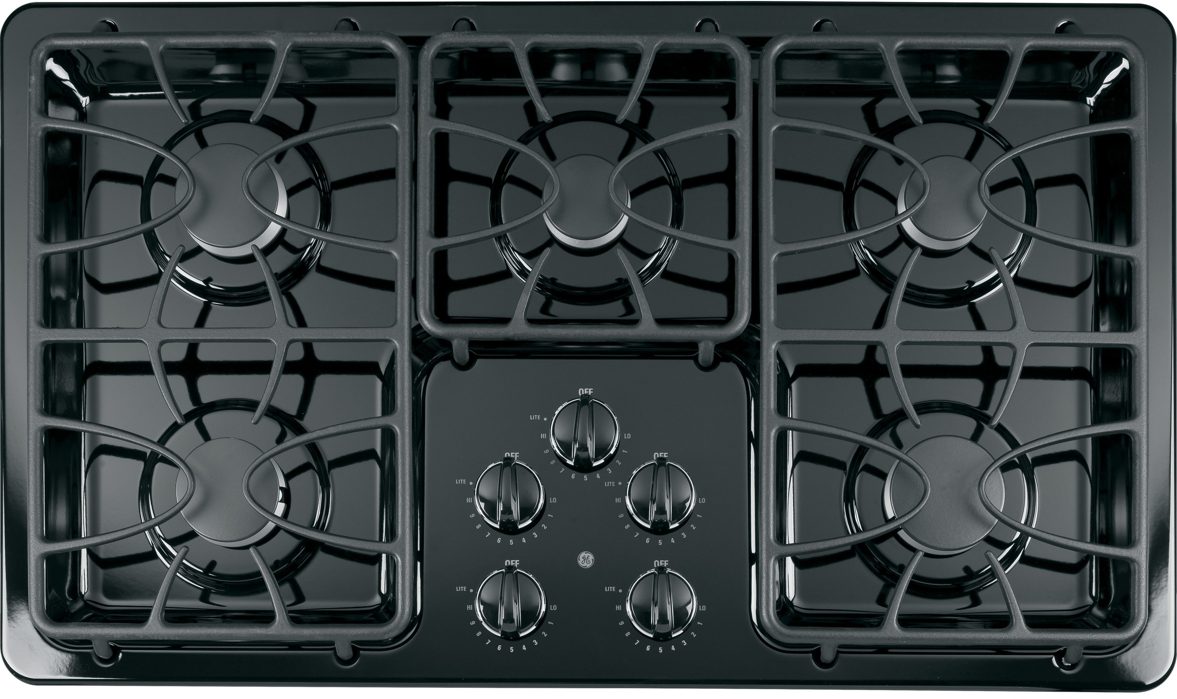 Ge Jgp63etbb 36 Inch Gas Cooktop With