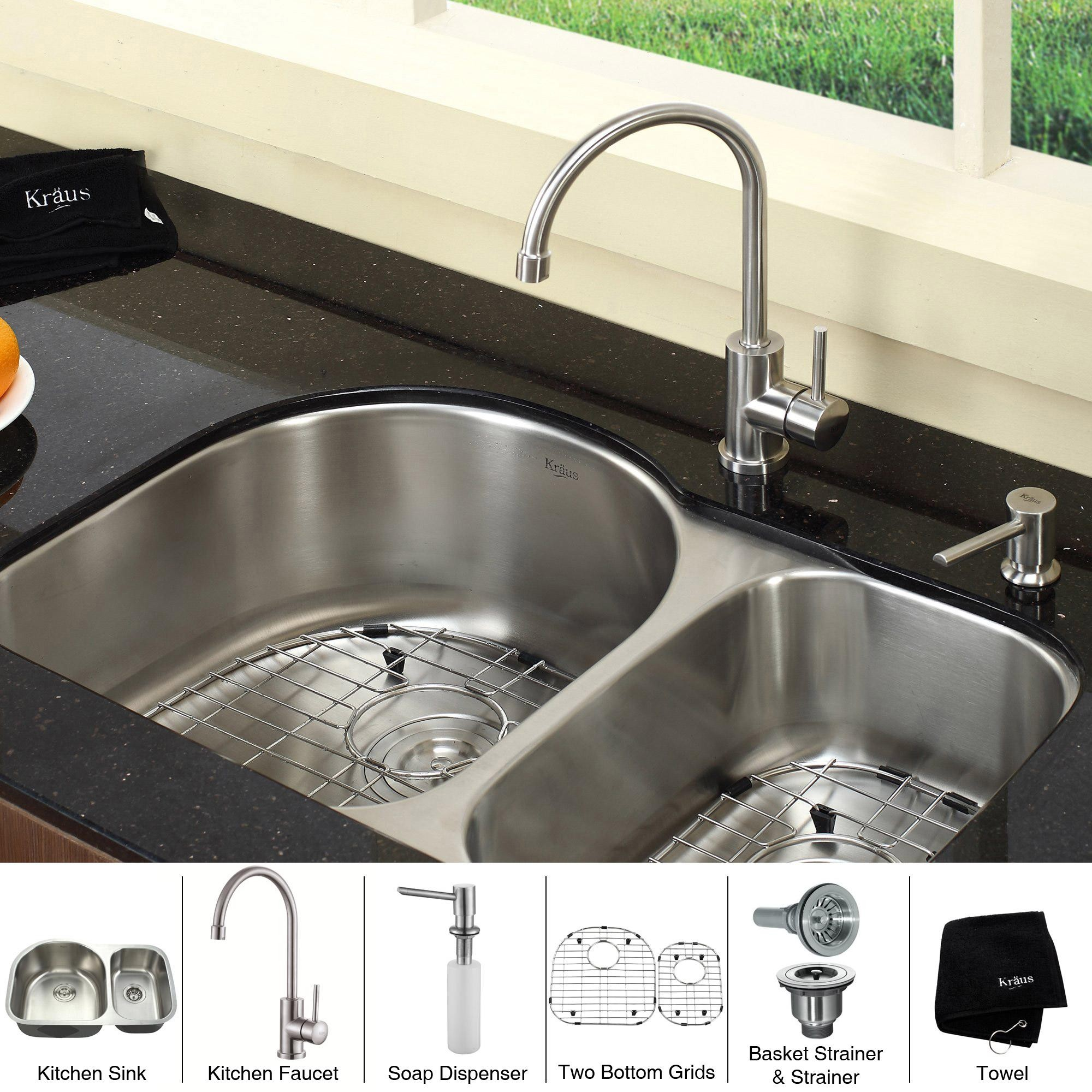 Kitchen Sink With 9 Inch 7 Bowl