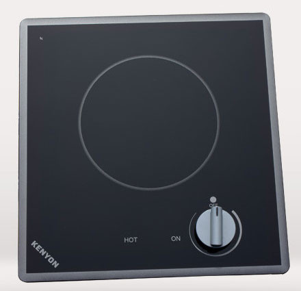 Black 208-volt Kenyon B41694 6-1//2 and 8-Inch Arctic 2-Burner Cooktop with Analog Control UL