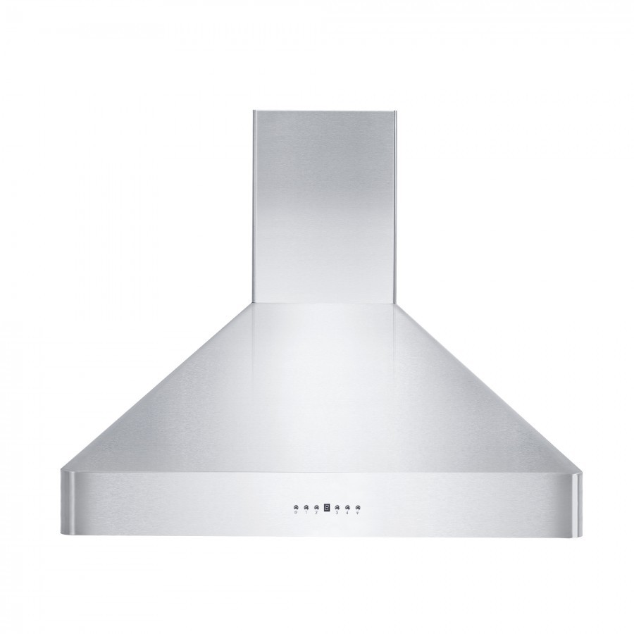 Zline Kf236 Convertible Wall Mount Range Hood With 4 Speed 400 Cfm Blower Directional Leds Stainless Steel Dishwasher Safe Baffle Filters And Delayed Shutoff 36 In Stainless Steel