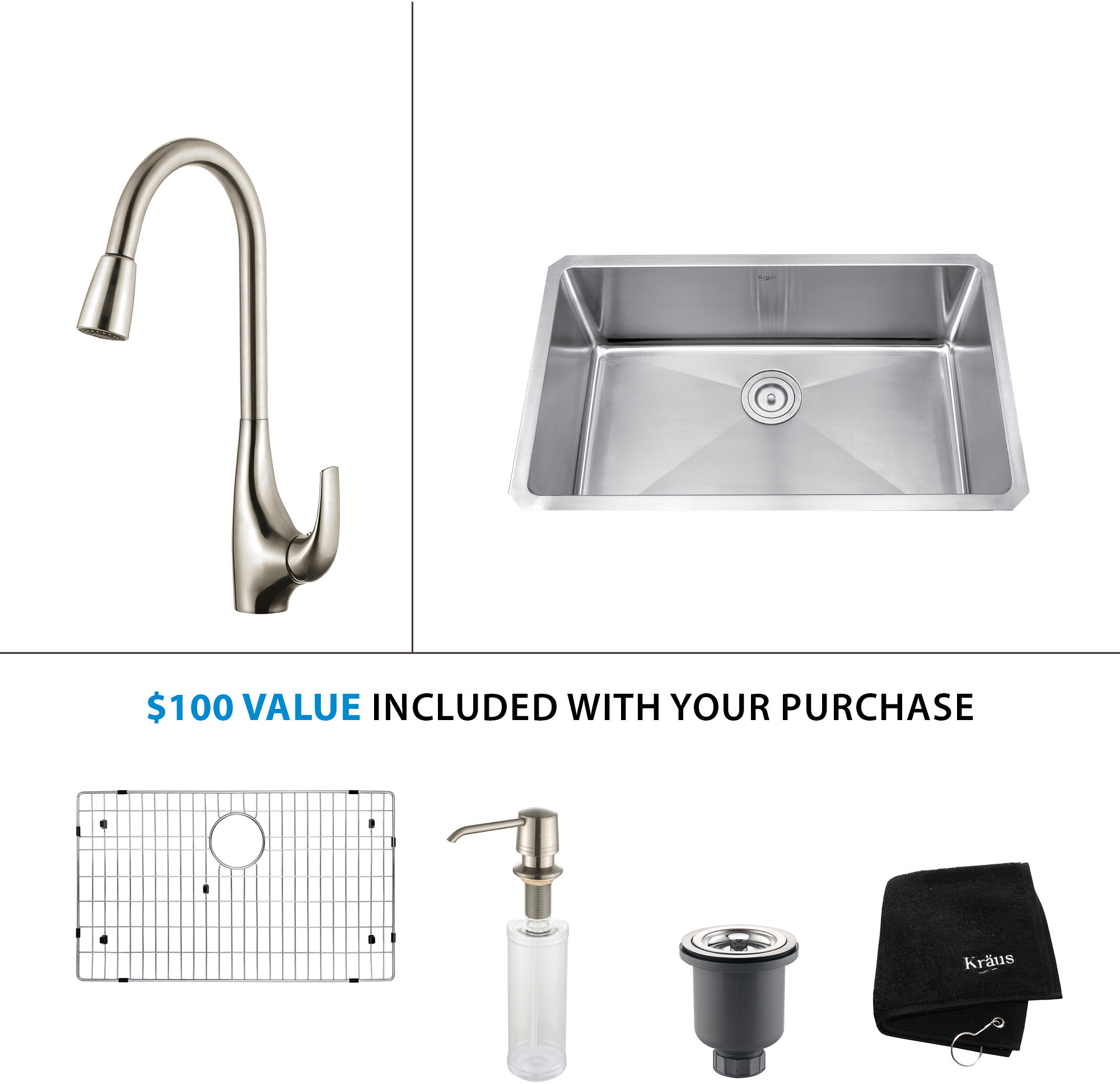Kitchen Sink & Faucet Combinations