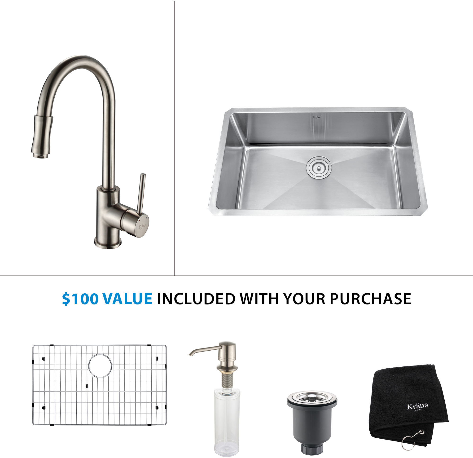 faucet stainless kpf main com faucets out single pull discontinued kraususa lever kitchen steel