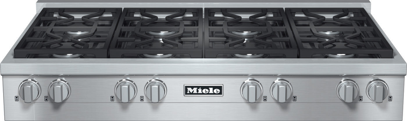 Miele Kmr1354lp 48 Inch Pro Style Gas Rangetop With 8 Sealed M Dual Stacked Burners Truesimmer Dishwasher Safe Grates Automatic Re Ignition And