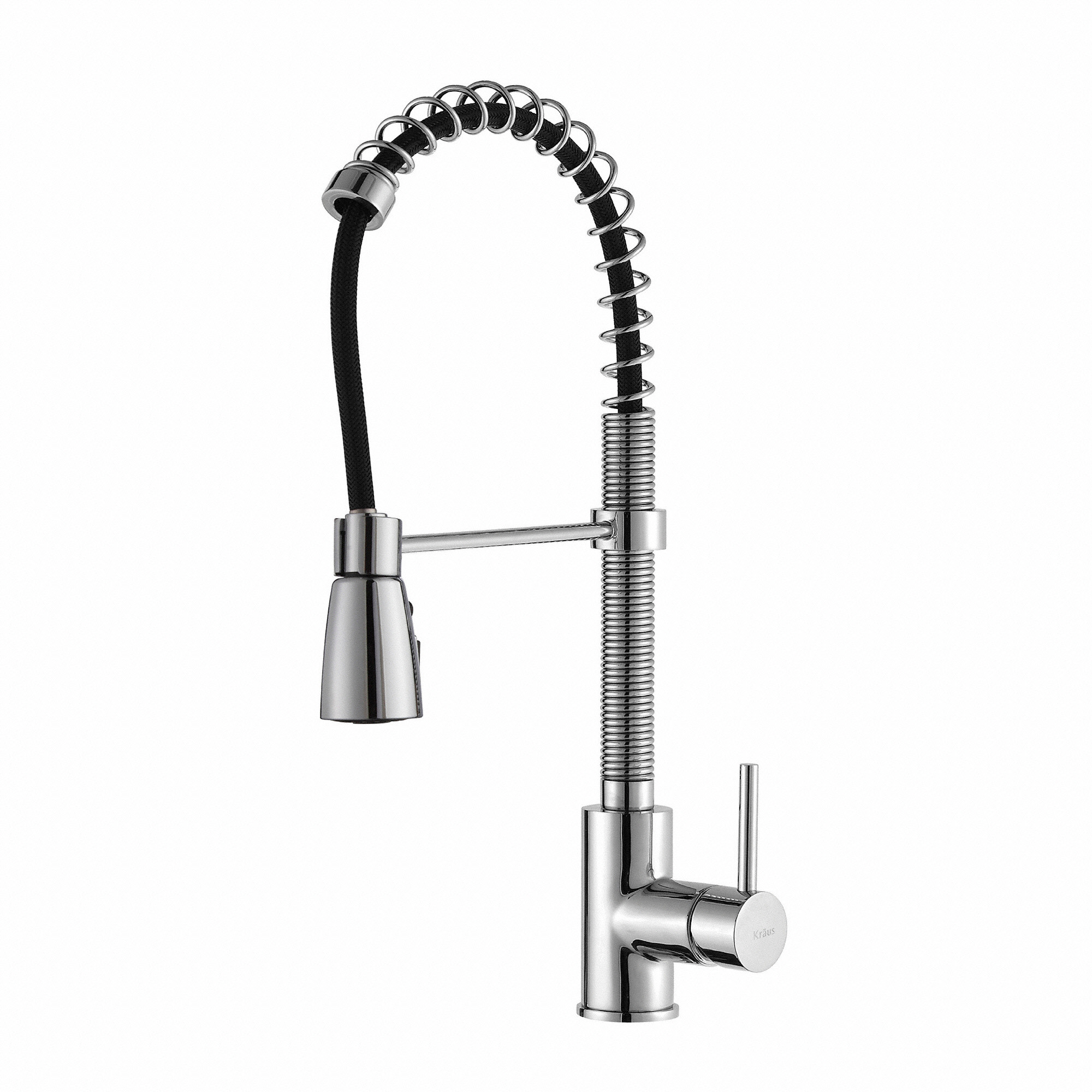 kraus kpf1612 single handle chrome commercial kitchen faucet with 3