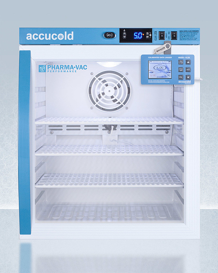 AccuCold 18 Inch 1 Cu. Ft. Compact All-Refrigerator White ARG1PVDL2B