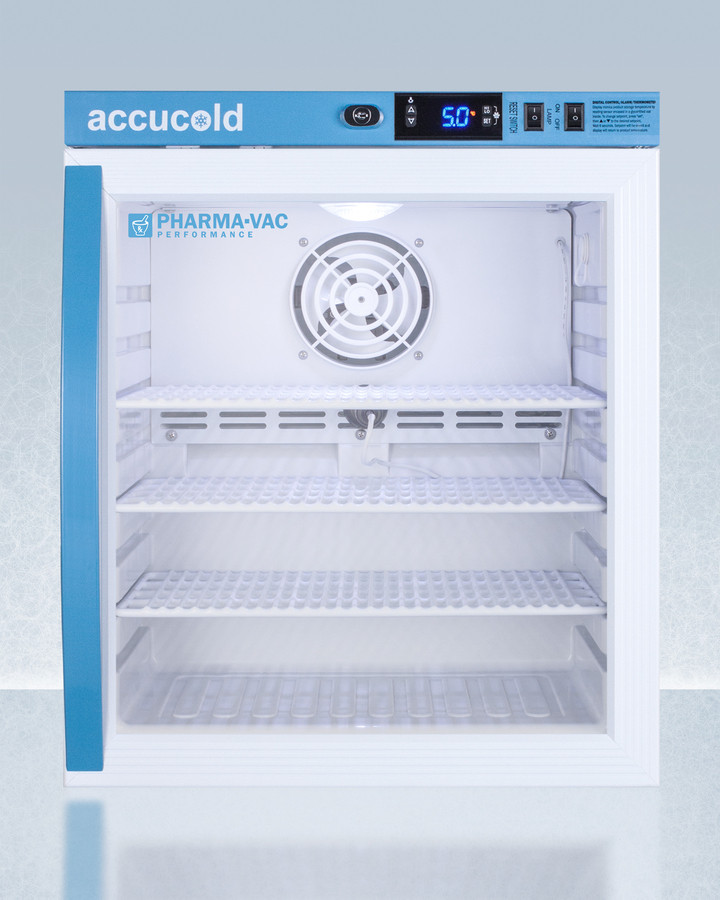 AccuCold 18 Inch 1 Cu. Ft. Compact All-Refrigerator White ARG1PV