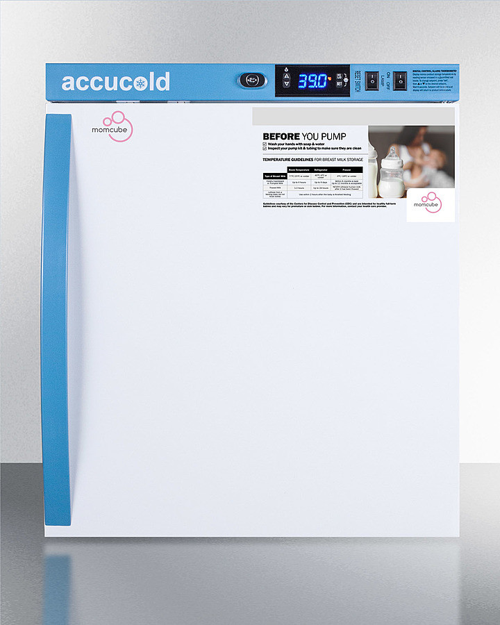 AccuCold 18 Inch 1 Cu. Ft. Compact All-Refrigerator White MLRS1MC